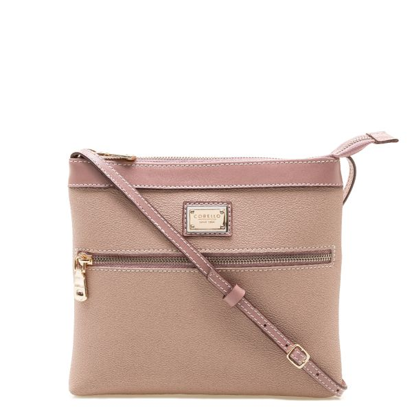 fa2430f68 Bolsa Feminina Crossbody Firenze - Nude/ At. Gloss - corello