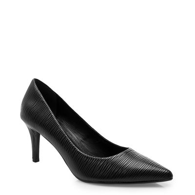 eb306e977 Scarpin Sapato: Preto, Vermelho, Salto Baixo, Grosso | Corello