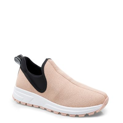 901dead473 Tênis Feminino Sneaker Knit - Tecido Fritz Lycra Nude