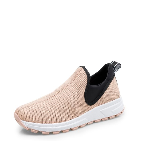 df90123803c Tênis Feminino Sneaker Knit - Tecido Fritz Lycra Nude - corello