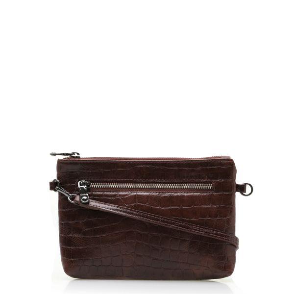 8fe53bbe6 Bolsa Feminina Mini Bag New - Couro Croco Conhaque - corello