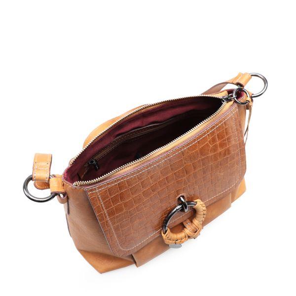 72e6cf414 Bolsa Feminina Shoulder Agata New Croco - Couro Marrakesh Dijon ...