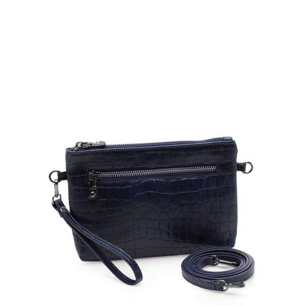 d6ec51066 Bolsa Feminina Mini Bag New - Couro Croco Marinho - corello