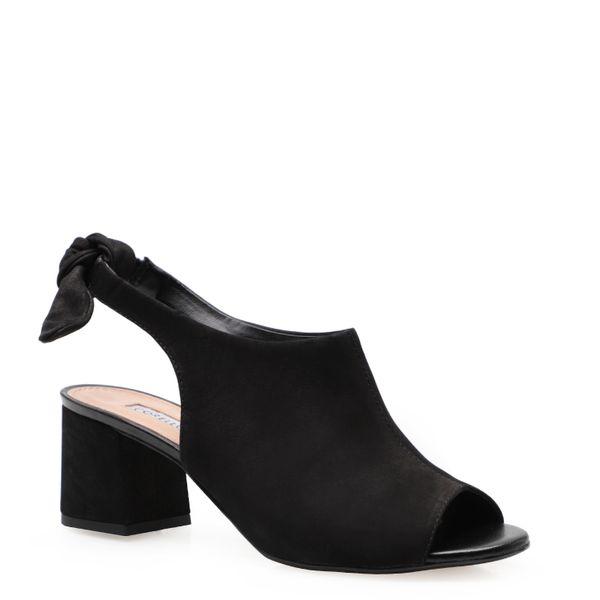 e7d7791a61 Sandália Feminina Sandal Boot Knot - Couro Nobuck Preto Soft Preto ...