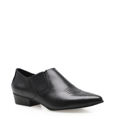 aa1471584d Bota Feminina Western Shoe - Couro Preto