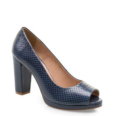 4c99dd7794 Peep Toe Classic Couro - Python Safira