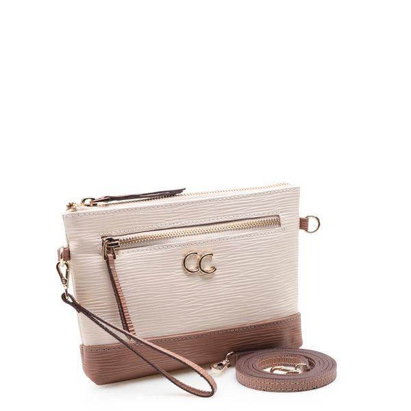 54717725a Bolsa Feminina Mini Bag - Couro Raiz White/Rose - corello