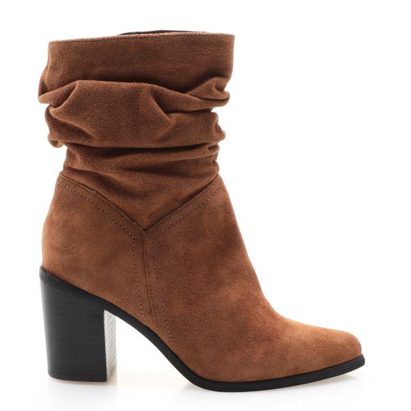 4f3cb05756 Bota Feminina Slouch Boot - Couro Camurção Whisky - corello