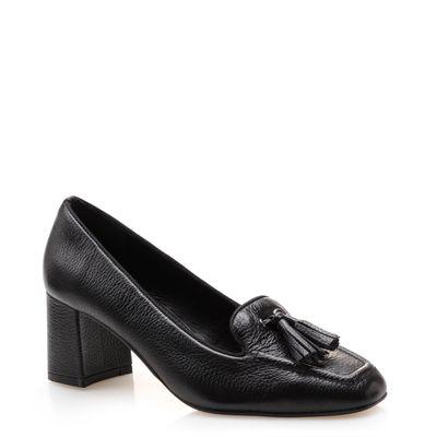28df57b5b260 Scarpin Sapato: Preto, Vermelho, Salto Baixo, Grosso | Corello